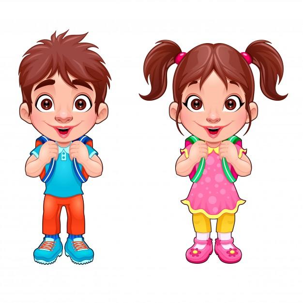 muchacho-joven-divertido-y-una-chica-estudiantes-personajes-de-vectores-aislados-de-dibujos-animados_1196-505