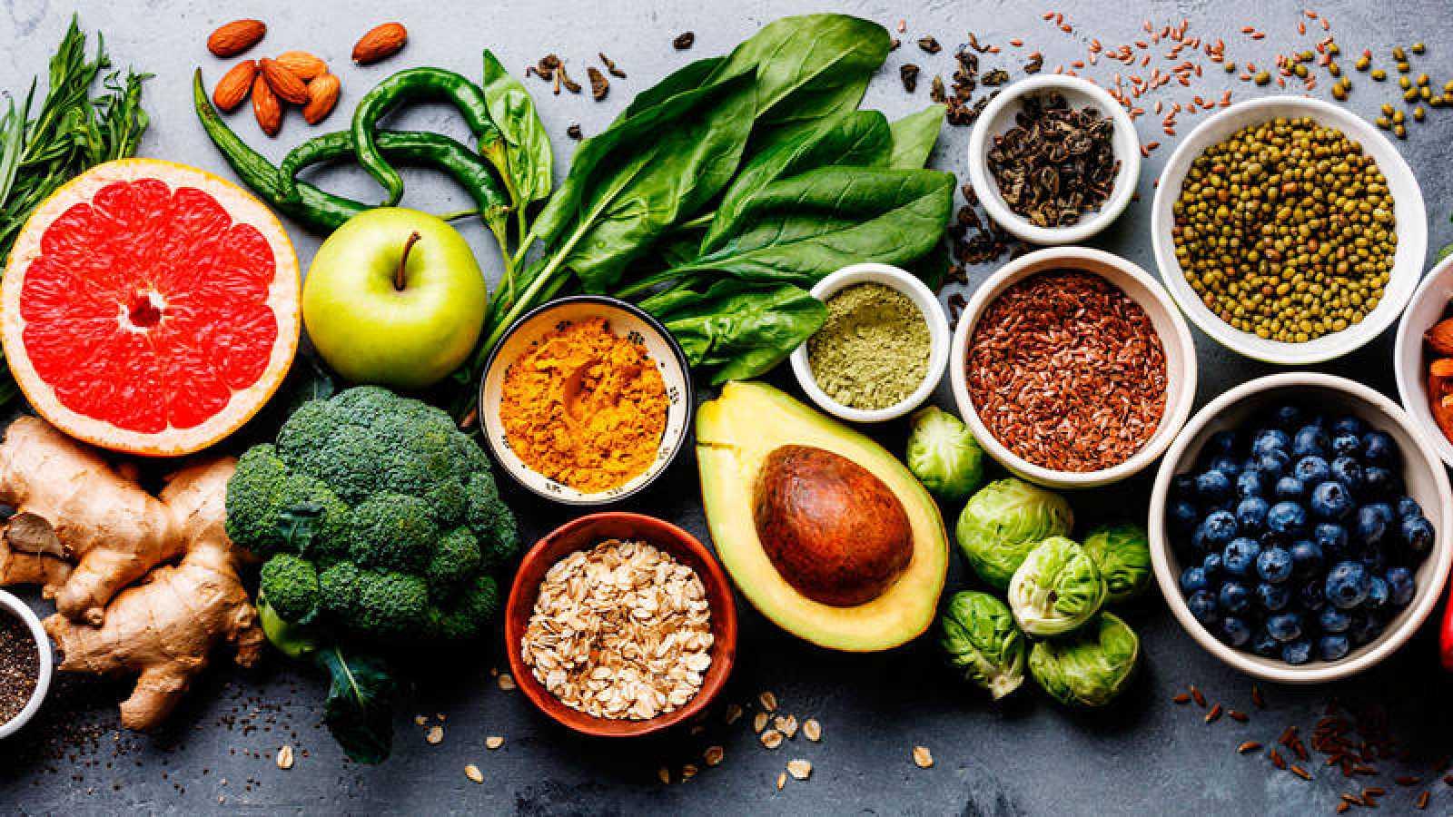 Frutas y verduras para el estrenimiento